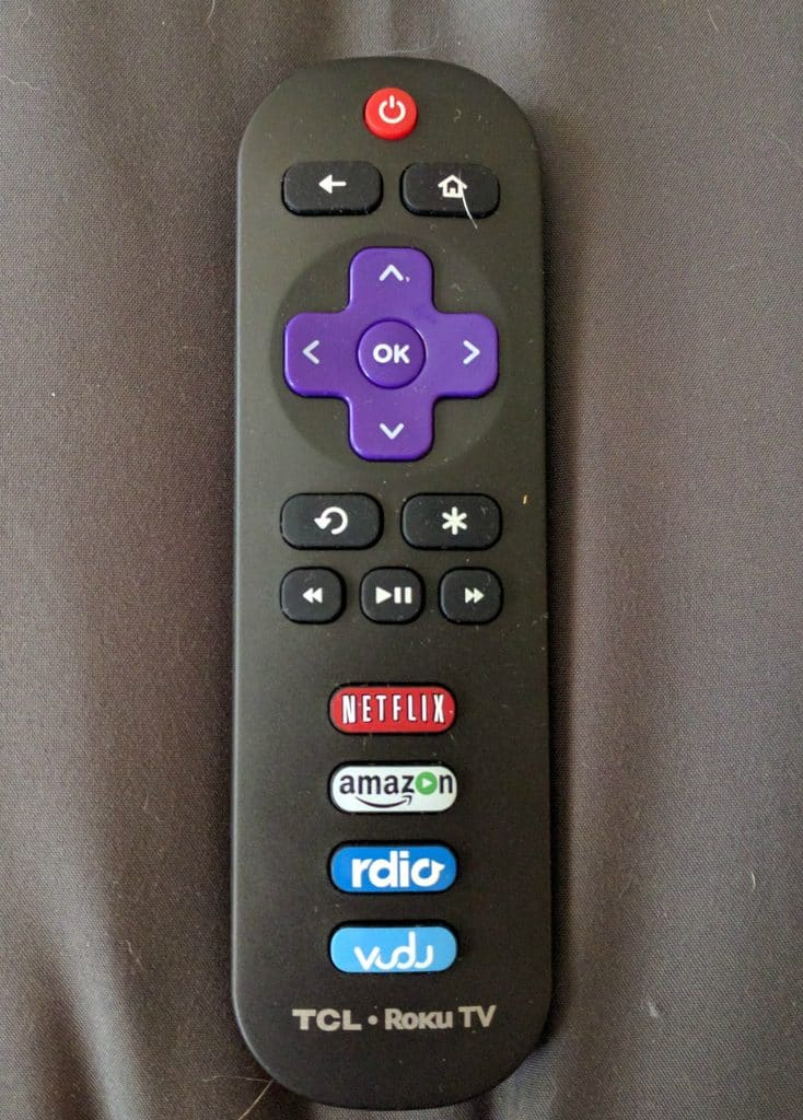 TCL's Roku remote control leaves a lot to be desired.